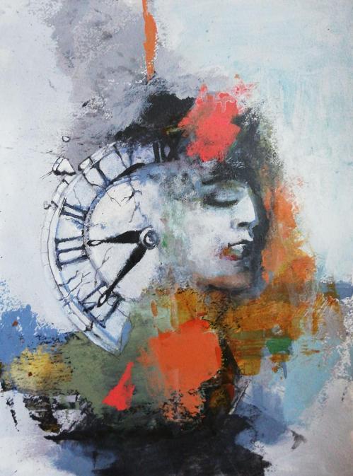 Out of time | Florentina Popescu | acrilic pe hartie Canson 30×40 cm
