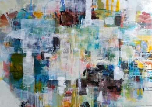 Windows | Florentina Popescu | acrilic pe panza 100×70 cm