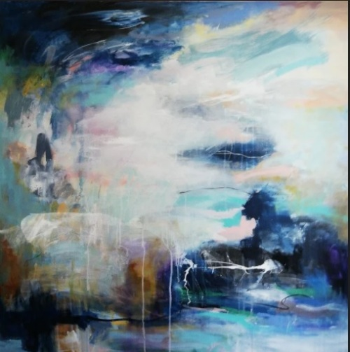 Inner peace | Florentina Popescu | acrilic pe panza 1×1 m
