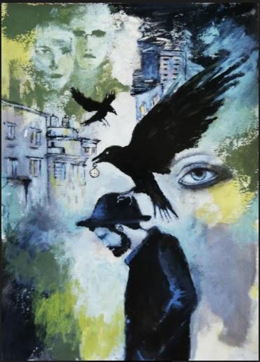 Birdman | Florentina Popescu | acrilic pe hartie Canson 30×40 cm
