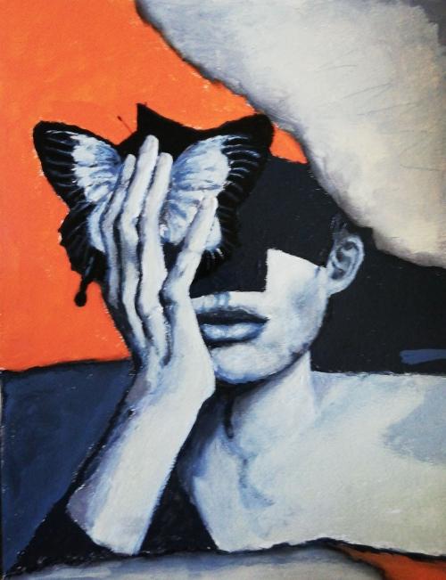 Butterfly effect | Florentina Popescu | acrilic pe hartie Canson 30×40 cm