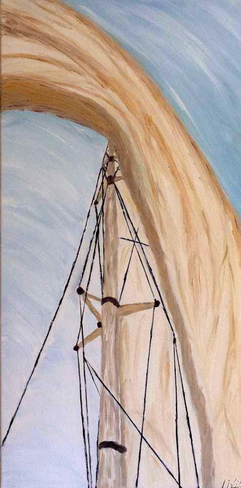 Sub un catarg | Livia Cotescu | acril panza 40×80 cm