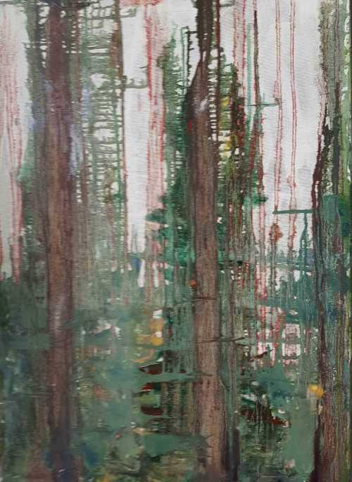 Ploaie cu lacrimi de sange | Elena Bancila | ulei panza 50×70 c