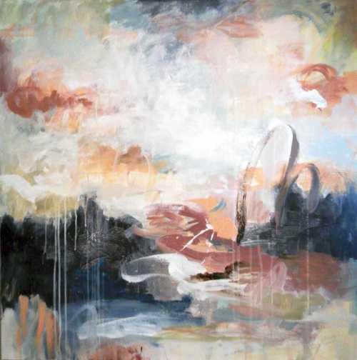 Eden | Florentina Popescu | acrilic pe panza 80×80 cm
