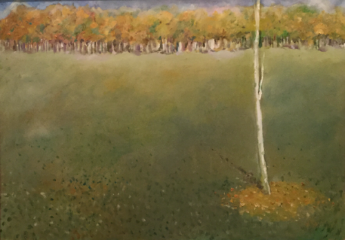 Singuratate toamna | Gabriela Trusca | ulei panza 50×70 cm
