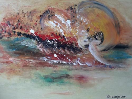 Mirosul unui vis | Stefan Valerica | acril cu mana pe panza 75×60 cm